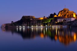 corfu-town-at-night-pool-villa-in-corfu-nissaki-villa-nitsa